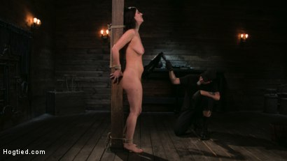 Photo number 12 from Bound Slave Cherry Torn Tormented in Rope Bondage and Multiple Orgasms shot for Hogtied on Kink.com. Featuring Cherry Torn and The Pope in hardcore BDSM & Fetish porn.