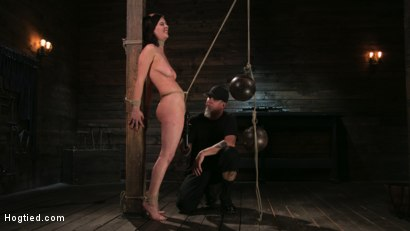 Photo number 13 from Bound Slave Cherry Torn Tormented in Rope Bondage and Multiple Orgasms shot for Hogtied on Kink.com. Featuring Cherry Torn and The Pope in hardcore BDSM & Fetish porn.
