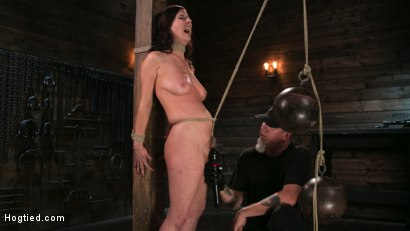 Photo number 14 from Bound Slave Cherry Torn Tormented in Rope Bondage and Multiple Orgasms shot for Hogtied on Kink.com. Featuring Cherry Torn and The Pope in hardcore BDSM & Fetish porn.