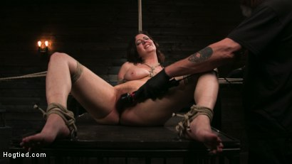 Photo number 17 from Bound Slave Cherry Torn Tormented in Rope Bondage and Multiple Orgasms shot for Hogtied on Kink.com. Featuring Cherry Torn and The Pope in hardcore BDSM & Fetish porn.