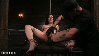 Photo number 21 from Bound Slave Cherry Torn Tormented in Rope Bondage and Multiple Orgasms shot for Hogtied on Kink.com. Featuring Cherry Torn and The Pope in hardcore BDSM & Fetish porn.