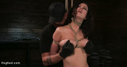 Photo number 2 from Bound Slave Cherry Torn Tormented in Rope Bondage and Multiple Orgasms shot for Hogtied on Kink.com. Featuring Cherry Torn and The Pope in hardcore BDSM & Fetish porn.