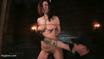 Photo number 3 from Bound Slave Cherry Torn Tormented in Rope Bondage and Multiple Orgasms shot for Hogtied on Kink.com. Featuring Cherry Torn and The Pope in hardcore BDSM & Fetish porn.
