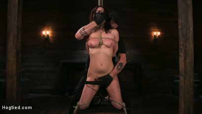 Photo number 4 from Bound Slave Cherry Torn Tormented in Rope Bondage and Multiple Orgasms shot for Hogtied on Kink.com. Featuring Cherry Torn and The Pope in hardcore BDSM & Fetish porn.