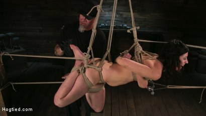 Photo number 6 from Bound Slave Cherry Torn Tormented in Rope Bondage and Multiple Orgasms shot for Hogtied on Kink.com. Featuring Cherry Torn and The Pope in hardcore BDSM & Fetish porn.