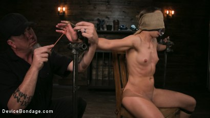 Photo number 2 from Cheyenne Jewel Punished with Unwilling Orgasms and Mean Metal Bondage! shot for Device Bondage on Kink.com. Featuring Cheyenne Jewel and The Pope in hardcore BDSM & Fetish porn.