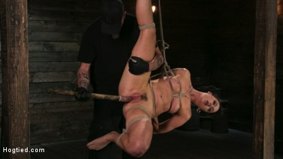 Photo number 9 from Pain Slut Lilith Luxe Cums Relentlessly from Torment and Rope Bondage! shot for Hogtied on Kink.com. Featuring Lilith Luxe and The Pope in hardcore BDSM & Fetish porn.