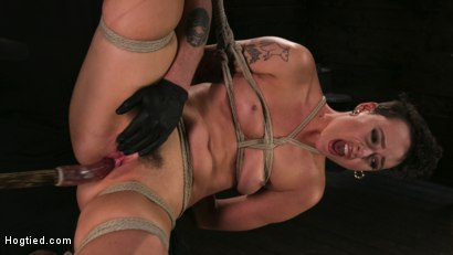 Photo number 10 from Pain Slut Lilith Luxe Cums Relentlessly from Torment and Rope Bondage! shot for Hogtied on Kink.com. Featuring Lilith Luxe and The Pope in hardcore BDSM & Fetish porn.