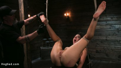 Photo number 14 from Pain Slut Lilith Luxe Cums Relentlessly from Torment and Rope Bondage! shot for Hogtied on Kink.com. Featuring Lilith Luxe and The Pope in hardcore BDSM & Fetish porn.