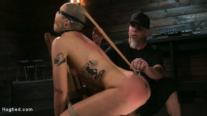 Photo number 3 from Pain Slut Lilith Luxe Cums Relentlessly from Torment and Rope Bondage! shot for Hogtied on Kink.com. Featuring Lilith Luxe and The Pope in hardcore BDSM & Fetish porn.