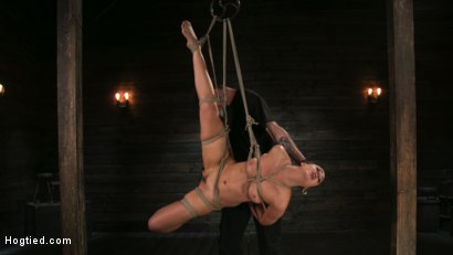Photo number 8 from Pain Slut Lilith Luxe Cums Relentlessly from Torment and Rope Bondage! shot for Hogtied on Kink.com. Featuring Lilith Luxe and The Pope in hardcore BDSM & Fetish porn.