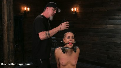 Photo number 2 from Sex Slave Lilith Luxe Humiliated with Head Shaving and Coerced Orgasms shot for Device Bondage on Kink.com. Featuring Lilith Luxe and The Pope in hardcore BDSM & Fetish porn.