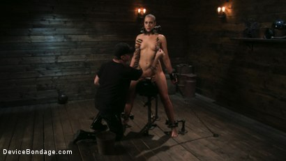 Photo number 8 from Sex Slave Lilith Luxe Humiliated with Head Shaving and Coerced Orgasms shot for Device Bondage on Kink.com. Featuring Lilith Luxe and The Pope in hardcore BDSM & Fetish porn.