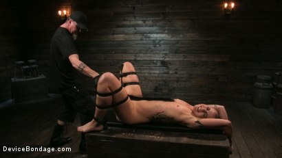 Photo number 16 from Sex Slave Lilith Luxe Humiliated with Head Shaving and Coerced Orgasms shot for Device Bondage on Kink.com. Featuring Lilith Luxe and The Pope in hardcore BDSM & Fetish porn.