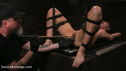 Photo number 18 from Sex Slave Lilith Luxe Humiliated with Head Shaving and Coerced Orgasms shot for Device Bondage on Kink.com. Featuring Lilith Luxe and The Pope in hardcore BDSM & Fetish porn.