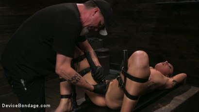 Photo number 20 from Sex Slave Lilith Luxe Humiliated with Head Shaving and Coerced Orgasms shot for Device Bondage on Kink.com. Featuring Lilith Luxe and The Pope in hardcore BDSM & Fetish porn.