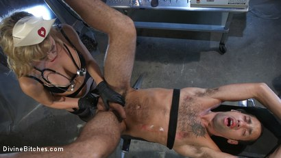 Photo number 13 from Nurse Cherie DeVille Inflicts Sadistic Medical Malpractice on DJ shot for Divine Bitches on Kink.com. Featuring Cherie DeVille and DJ in hardcore BDSM & Fetish porn.