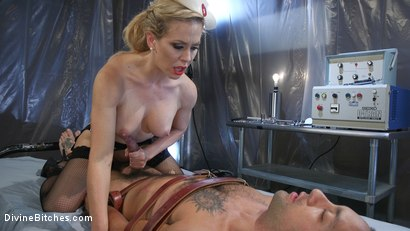 Photo number 18 from Nurse Cherie DeVille Inflicts Sadistic Medical Malpractice on DJ shot for Divine Bitches on Kink.com. Featuring Cherie DeVille and DJ in hardcore BDSM & Fetish porn.