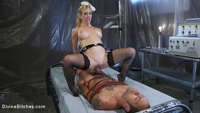 Photo number 25 from Nurse Cherie DeVille Inflicts Sadistic Medical Malpractice on DJ shot for Divine Bitches on Kink.com. Featuring Cherie DeVille and DJ in hardcore BDSM & Fetish porn.
