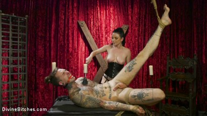 Photo number 16 from Disobedient Masturbating Slave Punished and Fucked with a Fat Cock  shot for Divine Bitches on Kink.com. Featuring Veruca James and Ruckus in hardcore BDSM & Fetish porn.