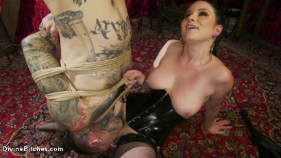 Photo number 17 from Disobedient Masturbating Slave Punished and Fucked with a Fat Cock  shot for Divine Bitches on Kink.com. Featuring Veruca James and Ruckus in hardcore BDSM & Fetish porn.