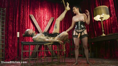 Photo number 5 from Disobedient Masturbating Slave Punished and Fucked with a Fat Cock  shot for Divine Bitches on Kink.com. Featuring Veruca James and Ruckus in hardcore BDSM & Fetish porn.