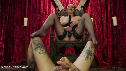 Photo number 6 from Disobedient Masturbating Slave Punished and Fucked with a Fat Cock  shot for Divine Bitches on Kink.com. Featuring Veruca James and Ruckus in hardcore BDSM & Fetish porn.