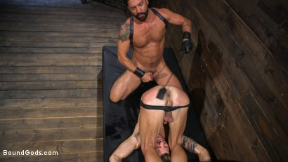 Photo number 10 from Submissive Stud Casey Everett gets Tied Up and Machine Fucked by a God shot for Bound Gods on Kink.com. Featuring Dominic Pacifico and Casey Everett in hardcore BDSM & Fetish porn.
