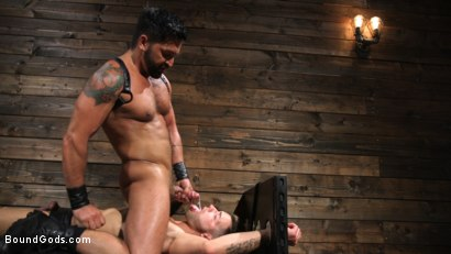 Photo number 13 from Submissive Stud Casey Everett gets Tied Up and Machine Fucked by a God shot for Bound Gods on Kink.com. Featuring Dominic Pacifico and Casey Everett in hardcore BDSM & Fetish porn.