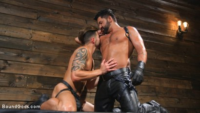 Photo number 1 from Submissive Stud Casey Everett gets Tied Up and Machine Fucked by a God shot for Bound Gods on Kink.com. Featuring Dominic Pacifico and Casey Everett in hardcore BDSM & Fetish porn.