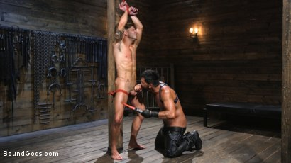 Photo number 4 from Submissive Stud Casey Everett gets Tied Up and Machine Fucked by a God shot for Bound Gods on Kink.com. Featuring Dominic Pacifico and Casey Everett in hardcore BDSM & Fetish porn.