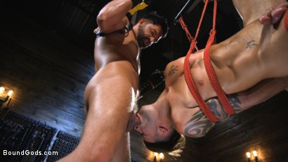 Photo number 5 from Submissive Stud Casey Everett gets Tied Up and Machine Fucked by a God shot for Bound Gods on Kink.com. Featuring Dominic Pacifico and Casey Everett in hardcore BDSM & Fetish porn.