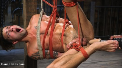 Photo number 7 from Submissive Stud Casey Everett gets Tied Up and Machine Fucked by a God shot for Bound Gods on Kink.com. Featuring Dominic Pacifico and Casey Everett in hardcore BDSM & Fetish porn.