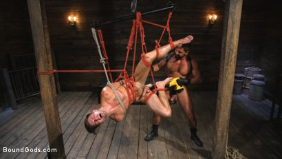 Photo number 8 from Submissive Stud Casey Everett gets Tied Up and Machine Fucked by a God shot for Bound Gods on Kink.com. Featuring Dominic Pacifico and Casey Everett in hardcore BDSM & Fetish porn.