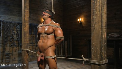 Photo number 11 from Muscle Stud Draven Navarro Gets His Big Cock Sucked and Edged shot for Men On Edge on Kink.com. Featuring Draven Navarro in hardcore BDSM & Fetish porn.