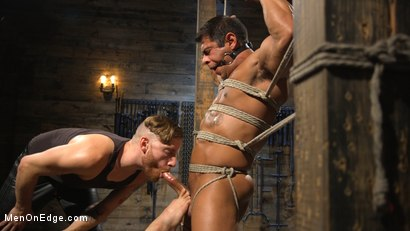 Photo number 14 from Muscle Stud Draven Navarro Gets His Big Cock Sucked and Edged shot for Men On Edge on Kink.com. Featuring Draven Navarro in hardcore BDSM & Fetish porn.