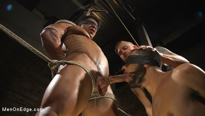 Photo number 5 from Muscle Stud Draven Navarro Gets His Big Cock Sucked and Edged shot for Men On Edge on Kink.com. Featuring Draven Navarro in hardcore BDSM & Fetish porn.