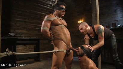 Photo number 3 from Muscle Stud Draven Navarro Gets His Big Cock Sucked and Edged shot for Men On Edge on Kink.com. Featuring Draven Navarro in hardcore BDSM & Fetish porn.