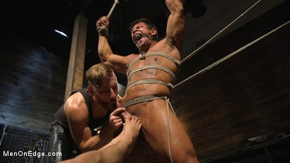Photo number 24 from Muscle Stud Draven Navarro Gets His Big Cock Sucked and Edged shot for Men On Edge on Kink.com. Featuring Draven Navarro in hardcore BDSM & Fetish porn.