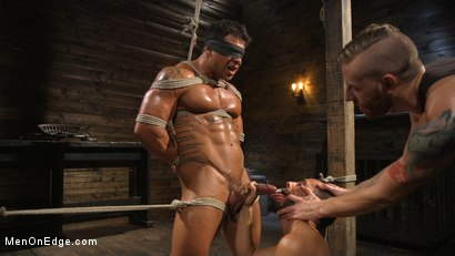 Photo number 7 from Muscle Stud Draven Navarro Gets His Big Cock Sucked and Edged shot for Men On Edge on Kink.com. Featuring Draven Navarro in hardcore BDSM & Fetish porn.