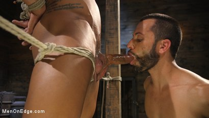 Photo number 8 from Muscle Stud Draven Navarro Gets His Big Cock Sucked and Edged shot for Men On Edge on Kink.com. Featuring Draven Navarro in hardcore BDSM & Fetish porn.
