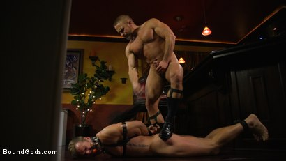 Photo number 1 from Hungry Daddy Fucks Younger Muscled Pain Slut shot for Bound Gods on Kink.com. Featuring Dirk Caber and Connor Patricks in hardcore BDSM & Fetish porn.