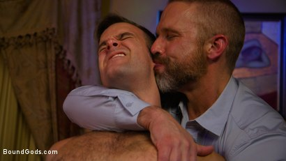 Photo number 11 from Hungry Daddy Fucks Younger Muscled Pain Slut shot for Bound Gods on Kink.com. Featuring Dirk Caber and Connor Patricks in hardcore BDSM & Fetish porn.