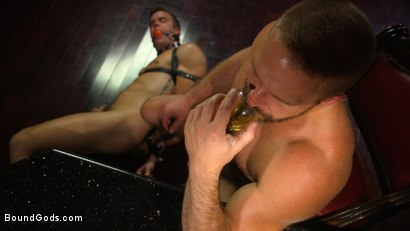 Photo number 12 from Hungry Daddy Fucks Younger Muscled Pain Slut shot for Bound Gods on Kink.com. Featuring Dirk Caber and Connor Patricks in hardcore BDSM & Fetish porn.
