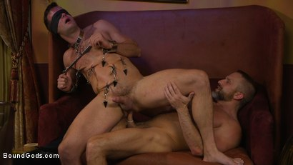 Photo number 13 from Hungry Daddy Fucks Younger Muscled Pain Slut shot for Bound Gods on Kink.com. Featuring Dirk Caber and Connor Patricks in hardcore BDSM & Fetish porn.
