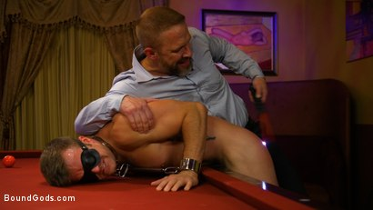 Photo number 15 from Hungry Daddy Fucks Younger Muscled Pain Slut shot for Bound Gods on Kink.com. Featuring Dirk Caber and Connor Patricks in hardcore BDSM & Fetish porn.