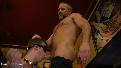 Photo number 2 from Hungry Daddy Fucks Younger Muscled Pain Slut shot for Bound Gods on Kink.com. Featuring Dirk Caber and Connor Patricks in hardcore BDSM & Fetish porn.