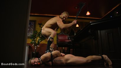 Photo number 16 from Hungry Daddy Fucks Younger Muscled Pain Slut shot for Bound Gods on Kink.com. Featuring Dirk Caber and Connor Patricks in hardcore BDSM & Fetish porn.