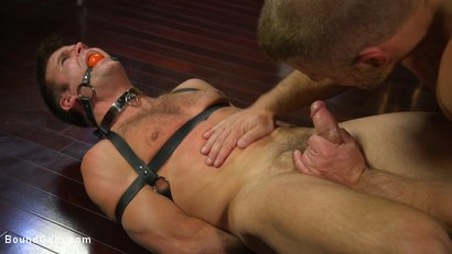 Photo number 3 from Hungry Daddy Fucks Younger Muscled Pain Slut shot for Bound Gods on Kink.com. Featuring Dirk Caber and Connor Patricks in hardcore BDSM & Fetish porn.