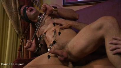 Photo number 8 from Hungry Daddy Fucks Younger Muscled Pain Slut shot for Bound Gods on Kink.com. Featuring Dirk Caber and Connor Patricks in hardcore BDSM & Fetish porn.